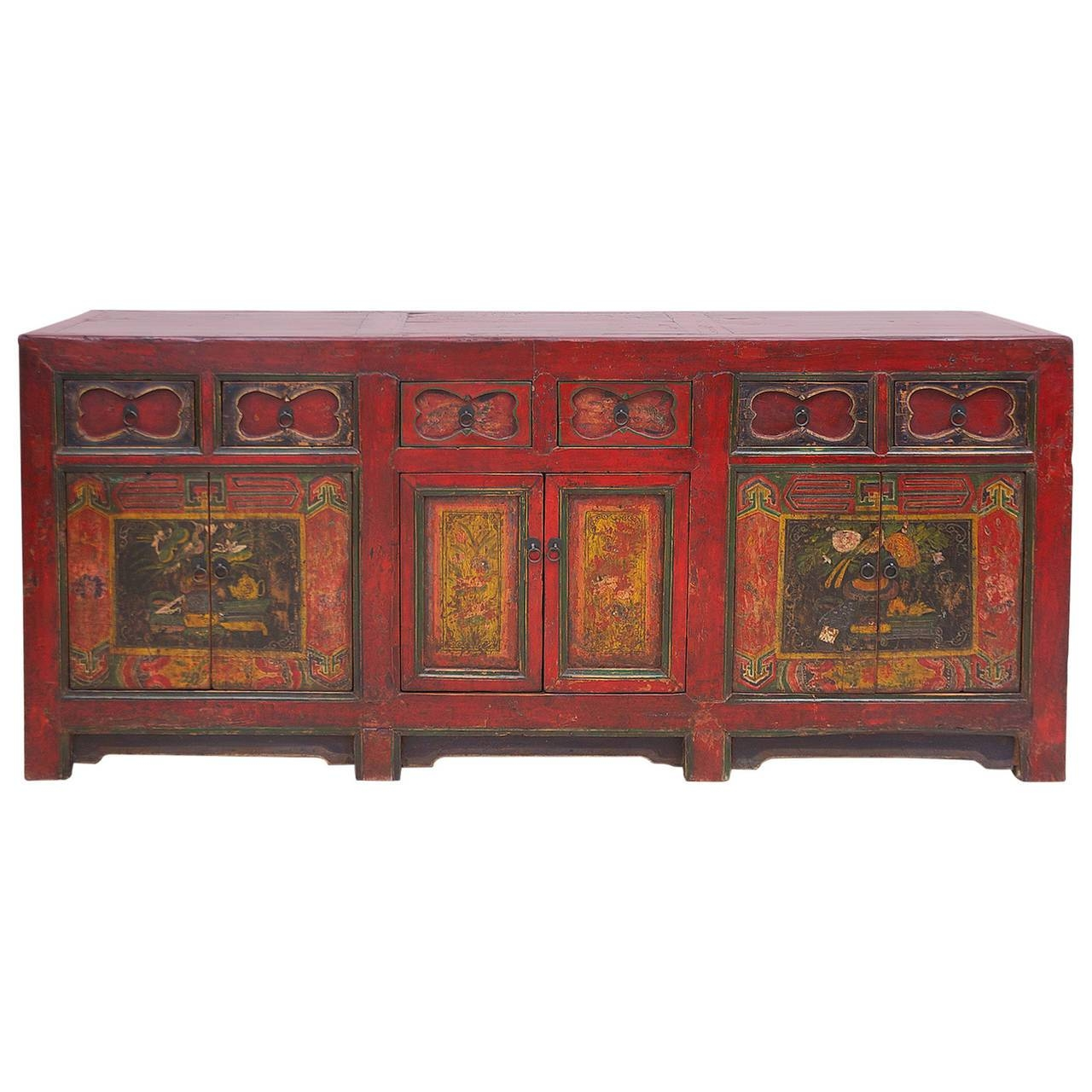 19th Century Chinese Painted Coffer Or Sideboard – Bonnin Ashley Regarding Chinese Sideboards (View 15 of 20)