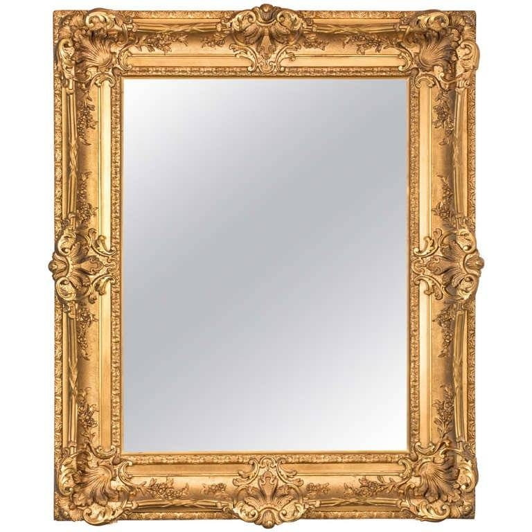 19Th Century Fabulous French Gilt Mirror For Sale At 1Stdibs For French Gilt Mirrors (#4 of 30)