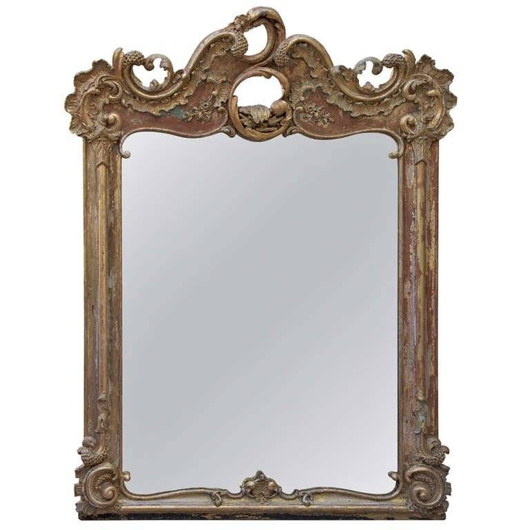19Th Century French Giltwood Rococo Style Mirror At 1Stdibs With Regard To Rococo Style Mirrors (#1 of 30)