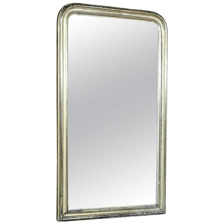 19Th Century French Louis Philippe Silver Gilded Mirror, Circa Intended For Silver Gilded Mirrors (#5 of 30)