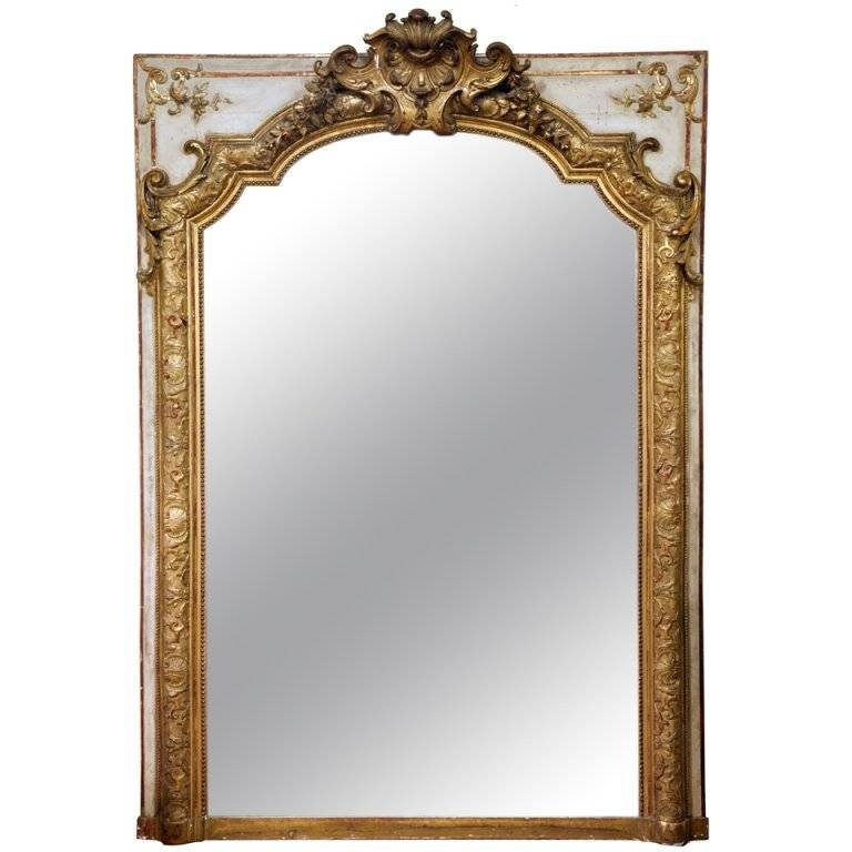 19Th Century French Overmantle Gilt Mirror At 1Stdibs For French Gilt Mirrors (#5 of 30)