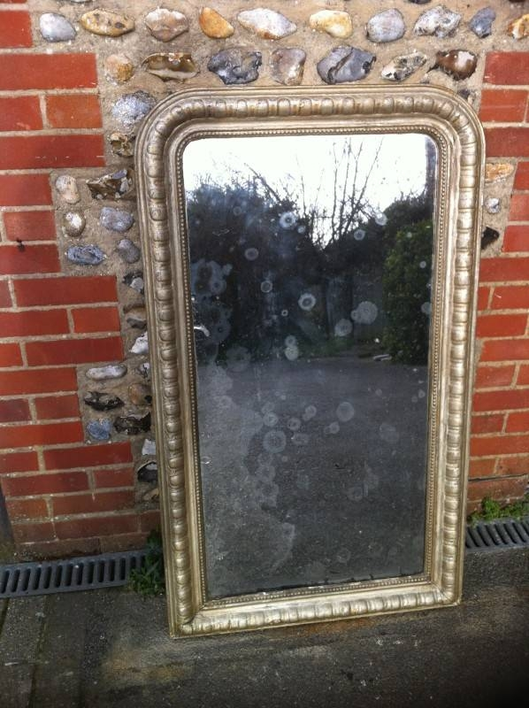 19th Century French Silvered Curved Top Mirror (View 19 of 30)