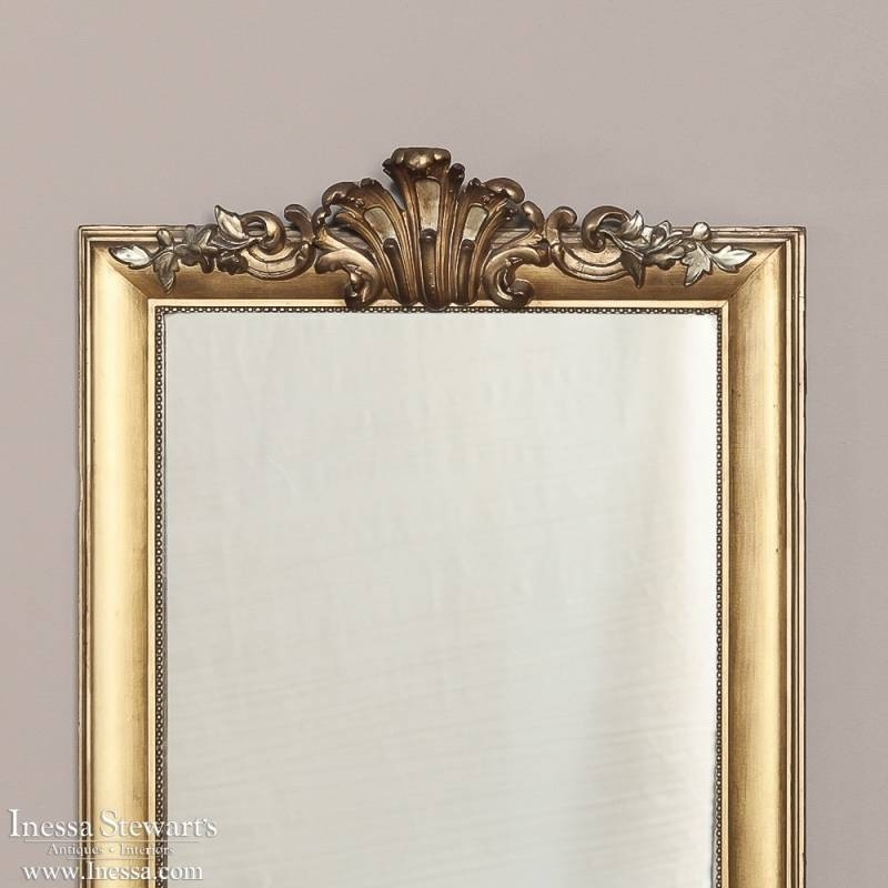 19Th Century Pair French Baroque Gilded Mirrors With Regard To Gilded Mirrors (#2 of 20)