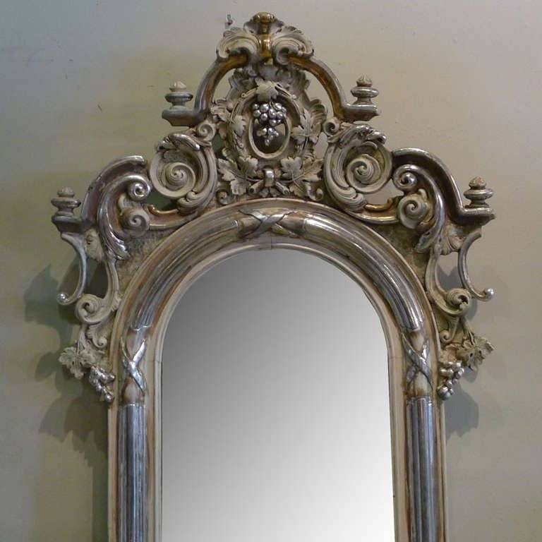 19Th Century Silver Gilded Baroque Mirror For Sale At 1Stdibs Within Silver Gilded Mirrors (#9 of 30)