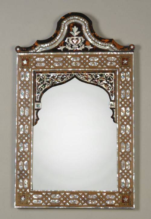 19Th Century Tortoise Shell And Mother Of Pearl Wall Mirror With Regard To Mother Of Pearl Wall Mirrors (#2 of 30)