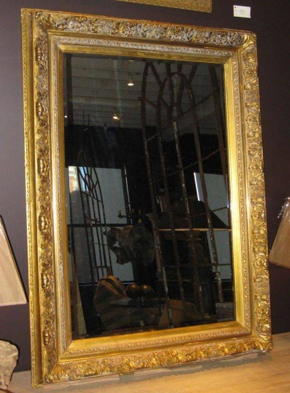19Thc Large Gold Guild Framed Mirror At 1Stdibs Within Large Gilt Framed Mirrors (#4 of 30)