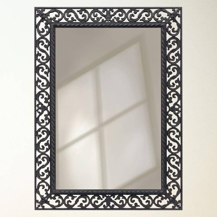 Popular Photo of Black Wrought Iron Mirrors