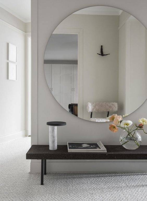 20 Gorgeous Oversized Entrance Mirror Ideas – Shelterness Pertaining To Large No Frame Mirrors (#3 of 20)