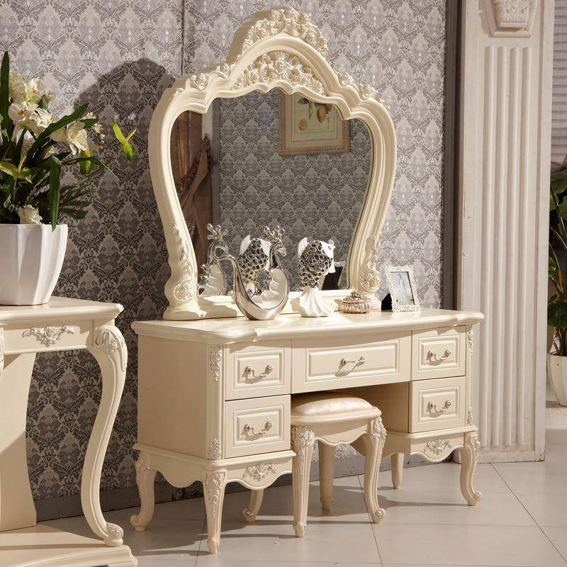2017 Combine European Luxury Pafeiya French Style Dressing Table Pertaining To French Style Dressing Table Mirrors (#2 of 20)