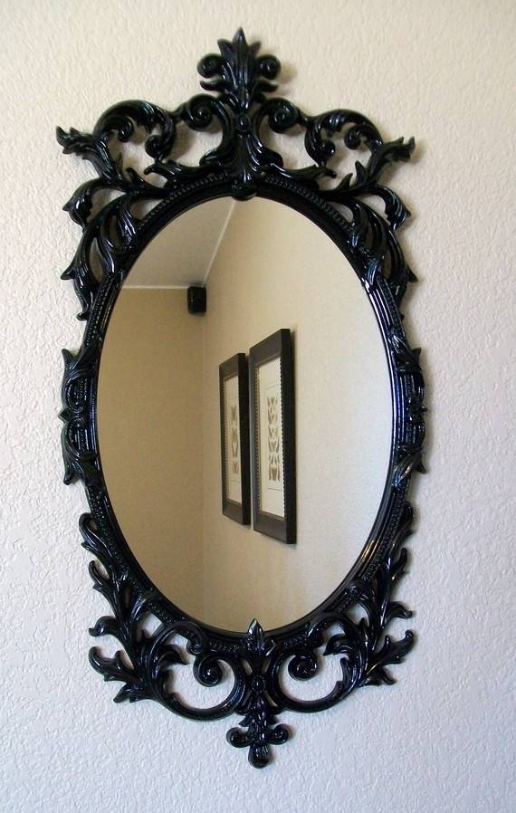 208 Best Зеркала Images On Pinterest | Mirror Mirror, Antique Pertaining To Black Shabby Chic Mirrors (#3 of 20)