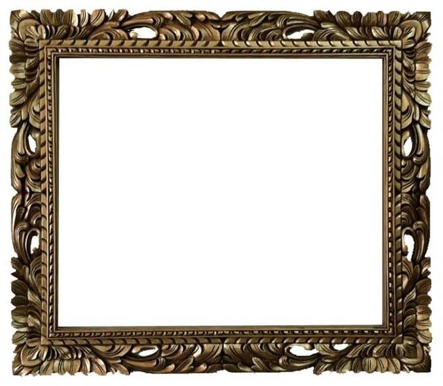 20X24 Rectangle Gold Mid Century Mirror Frame Baroque Frame Inside Gold Baroque Mirrors (#5 of 30)