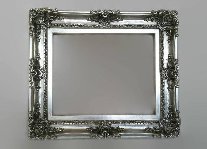 20X24 Silver Large Picture Frame – Wall Decorative Mirror – Shabby For Black Shabby Chic Mirrors (#4 of 20)