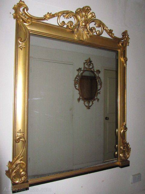 218 Best Antique Mirrors Images On Pinterest | Antique Mirrors Within Antique Overmantle Mirrors (#1 of 20)