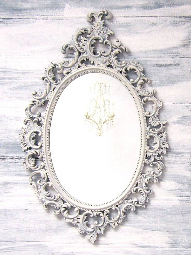 22 Best Mirrors Images On Pinterest | French Country, Mirrors For With Regard To Oval Shabby Chic Mirrors (View 3 of 20)