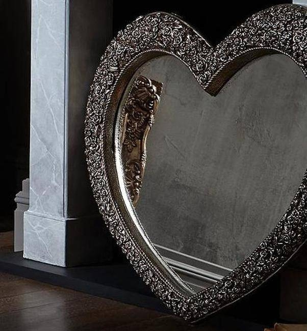 22 Warm, Heart Shaped Decor Accessories And Home Accents Pertaining To Large Heart Mirrors (View 3 of 15)
