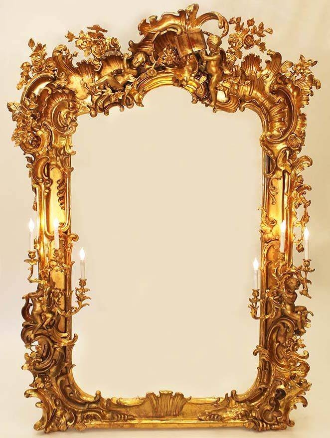 227 Best Mirror Images On Pinterest | Mirror Mirror, Antique With Gold Baroque Mirrors (#7 of 30)