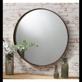 23 Best Mirrors Images On Pinterest | Round Mirrors, Mirror Mirror Intended For Large Round Metal Mirrors (View 2 of 30)