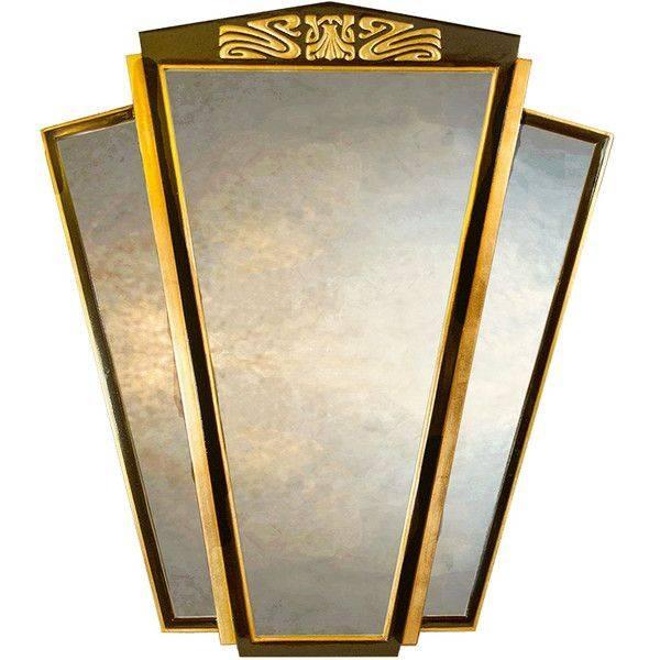 231 Best Art Deco Mirrors Images On Pinterest | Art Deco Mirror Inside Large Art Deco Wall Mirrors (#4 of 20)
