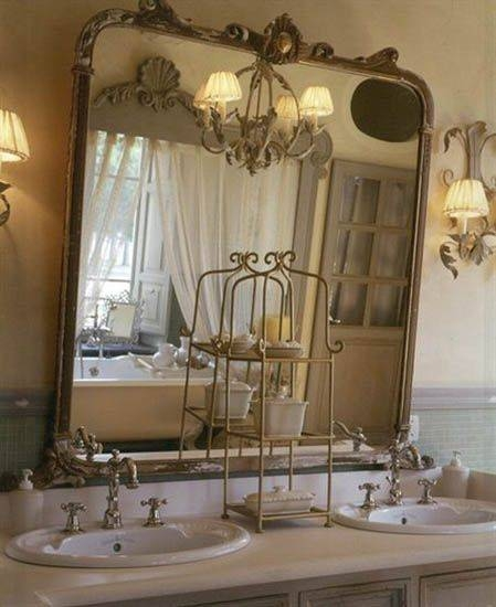 french bathroom mirror 30 inspirations of style bathroom mirrors 12920