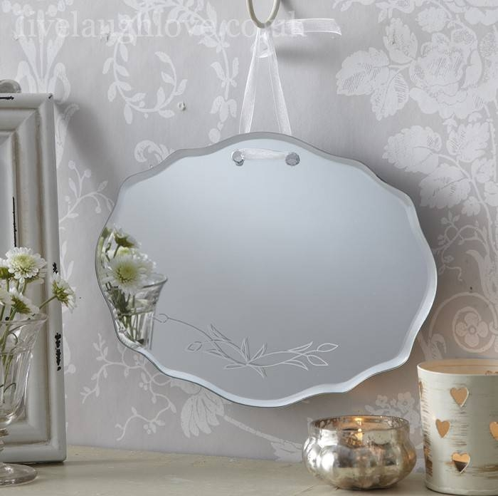 24 Luxury Bathroom Mirrors Shabby Chic | Eyagci Inside Vintage Bevelled Edge Mirrors (#4 of 30)