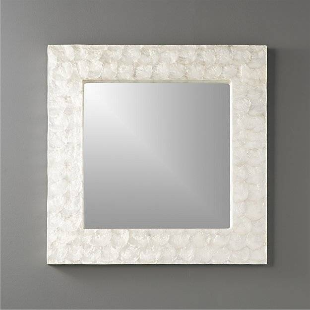 "24"" Square Mother Of Pearl Wall Mirror 