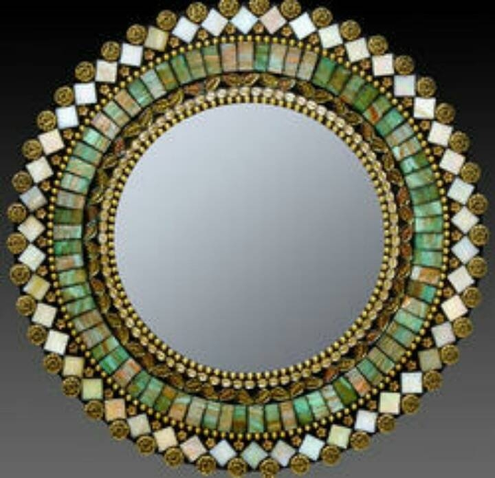 240 Best Mirrors Images On Pinterest | Glass Mirrors, Glass Art Regarding Bronze Mosaic Mirrors (#7 of 30)
