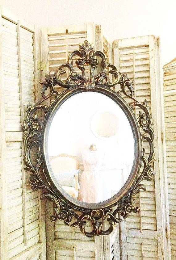 Popular Photo of Gold Shabby Chic Mirrors