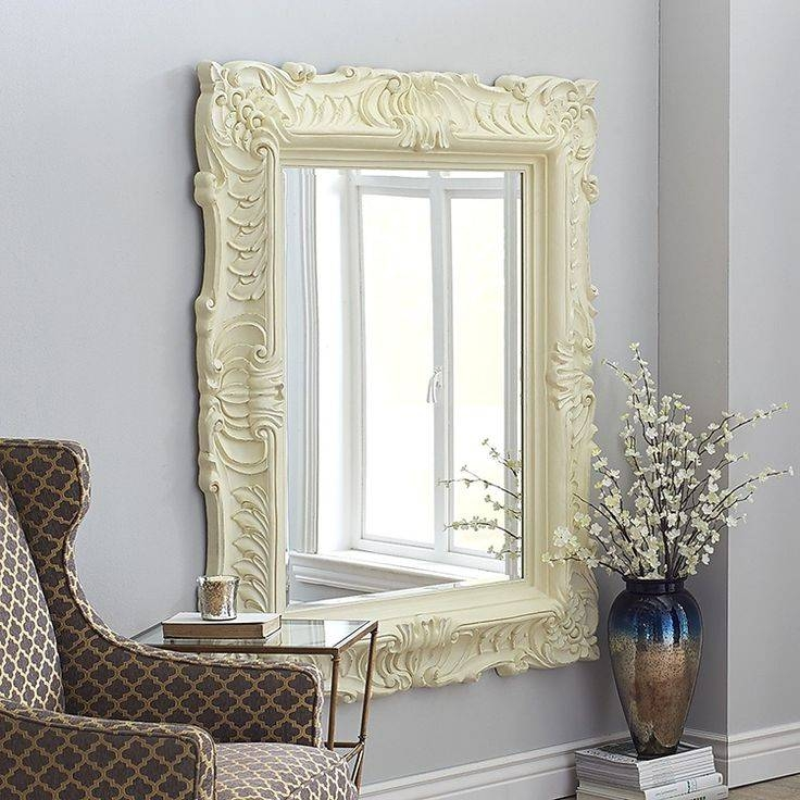 30 Photo of Large White Rococo Mirrors