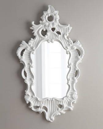 Popular Photo of White Baroque Mirrors
