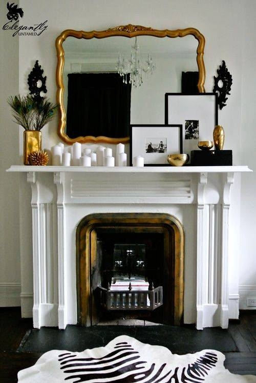 25+ Best Black Fireplace Mantels Ideas On Pinterest | Brown Mantel With Gold Mantle Mirrors (#4 of 30)