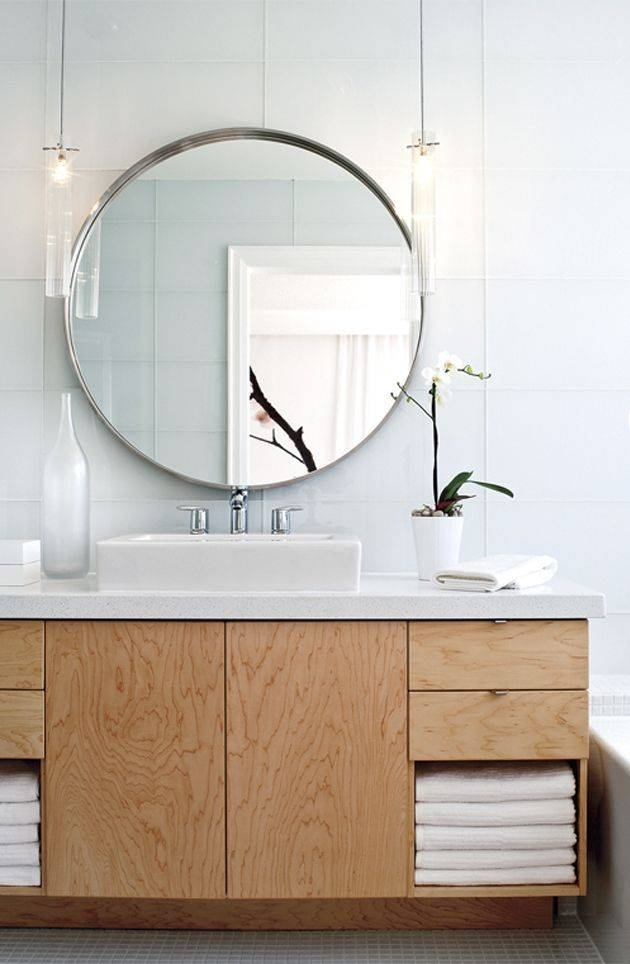 25+ Best Large Bathroom Mirrors Ideas On Pinterest | Inspired Inside Unique Round Mirrors (View 27 of 30)