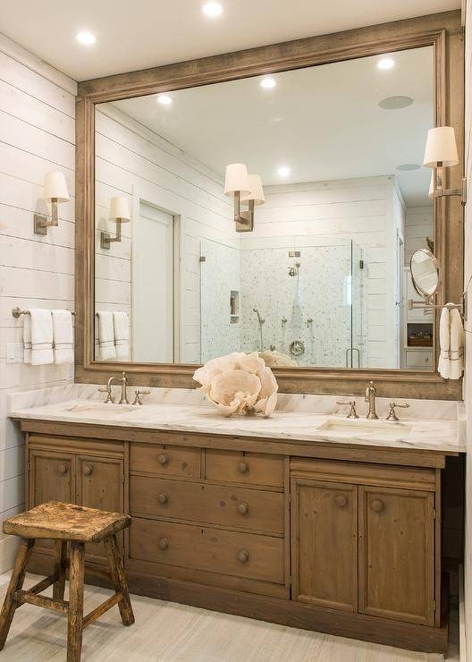 25+ Best Large Wooden Mirror Ideas On Pinterest | Pallet Mirror Intended For Large Brown Mirrors (#5 of 30)