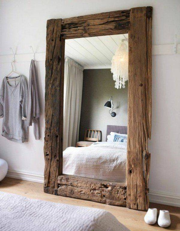 25+ Best Large Wooden Mirror Ideas On Pinterest | Pallet Mirror Pertaining To Wooden Mirrors (#1 of 30)