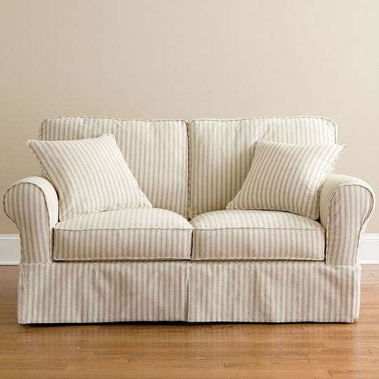 25 Best Loveseat Slipcovers Images On Pinterest Loveseat Pertaining To Slipcovers For Sofas And Chairs (#3 of 15)