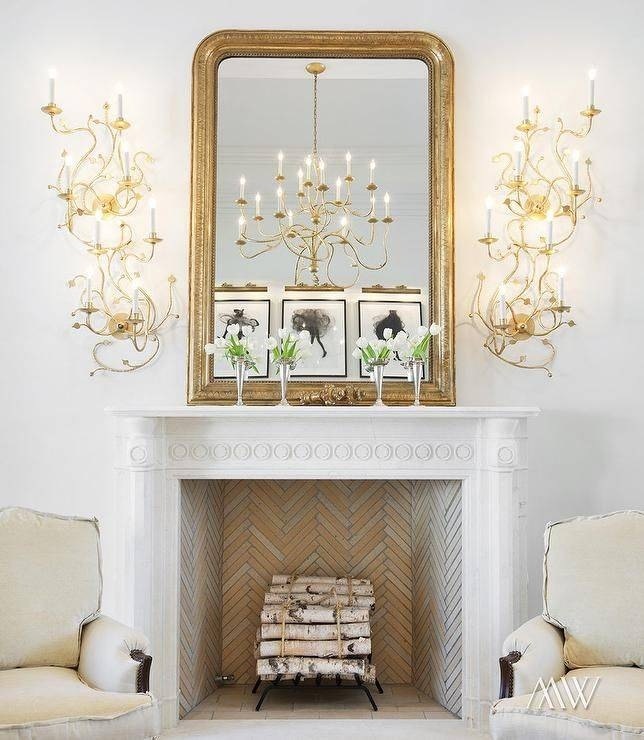 25+ Best Mirror Above Fireplace Ideas On Pinterest | Fake Inside Gold Mantle Mirrors (#5 of 30)