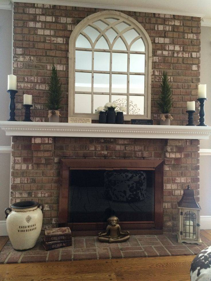 25+ Best Mirror Above Fireplace Ideas On Pinterest | Fake Within Distressed Cream Mirrors (#2 of 30)