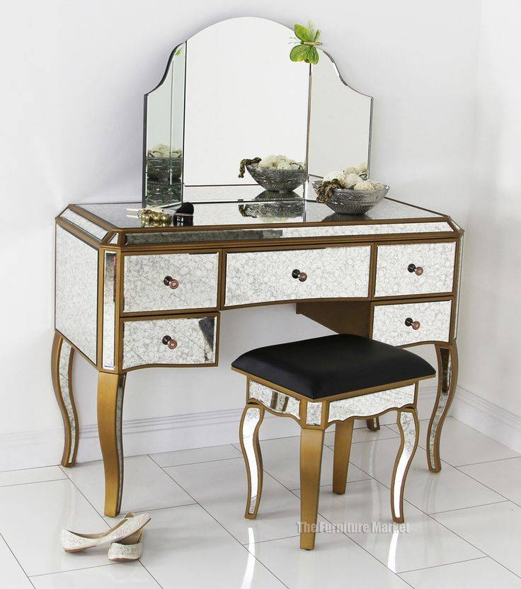 25+ Best Mirrored Dressing Table Set Ideas On Pinterest | Vanity For Gold Dressing Table Mirrors (View 29 of 30)