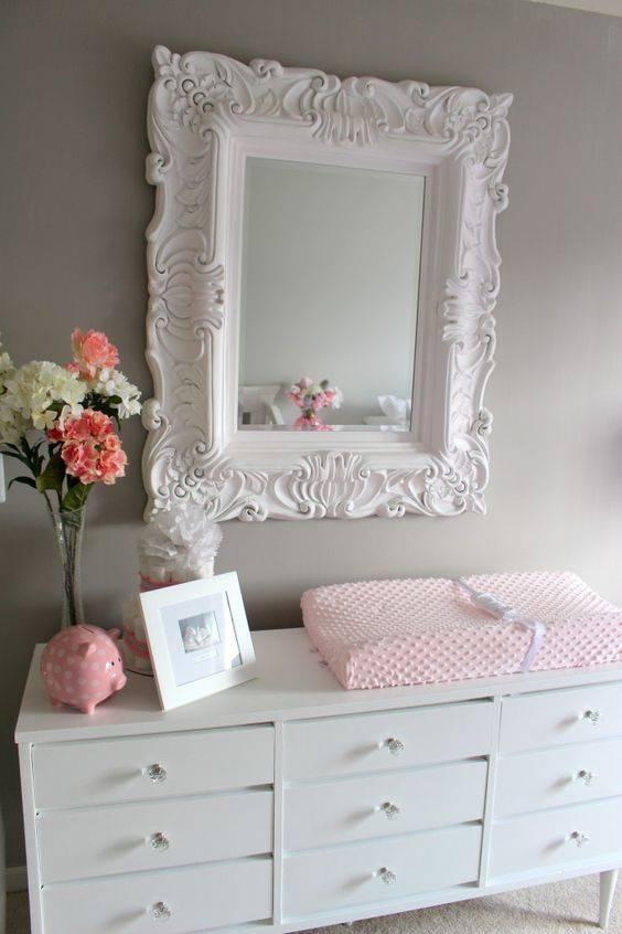 25+ Best Nursery Mirror Ideas On Pinterest | Baby Girl Nursery Pertaining To Grey Vintage Mirrors (#5 of 20)