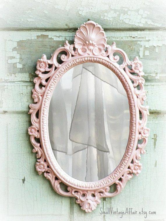 Popular Photo of Oval Shabby Chic Mirrors