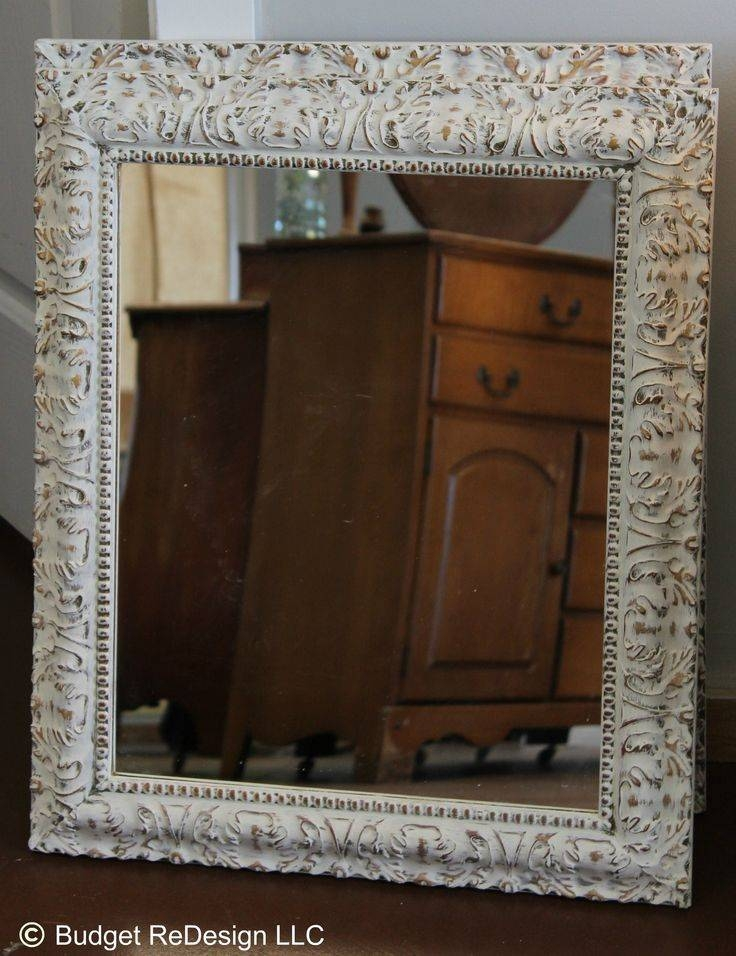 25+ Best Painted Mirror Frames Ideas On Pinterest | Painting A Pertaining To Shabby Chic White Mirrors (#6 of 30)