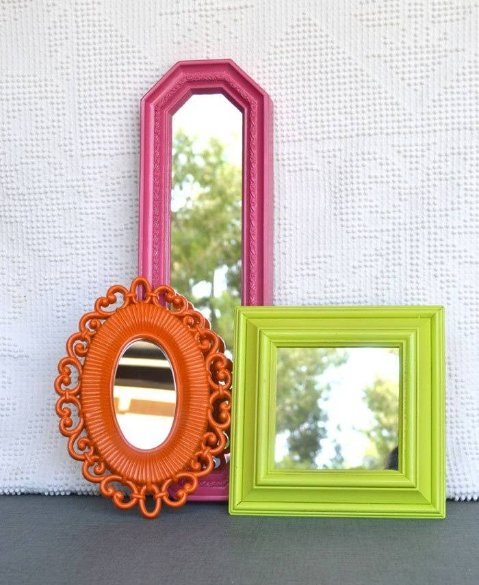 25+ Best Painted Mirror Frames Ideas On Pinterest | Painting A Throughout Bright Coloured Mirrors (#3 of 20)