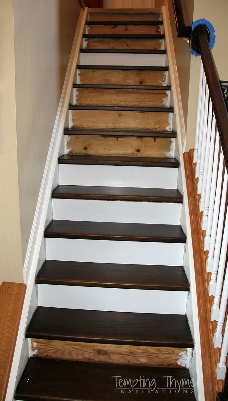 25 Best Stair Treads Ideas On Pinterest Wood Stair Treads Redo Throughout Carpet  Treads For Hardwood
