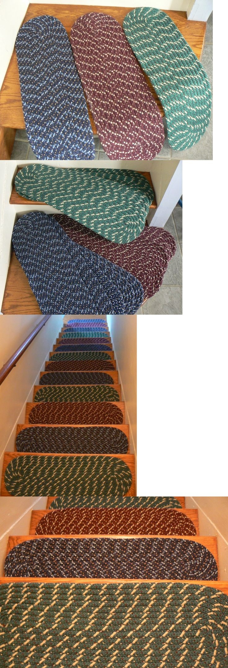 25 Best Stair Treads Ideas On Pinterest Wood Stair Treads Redo With Braided Rug Stair Treads (#1 of 20)