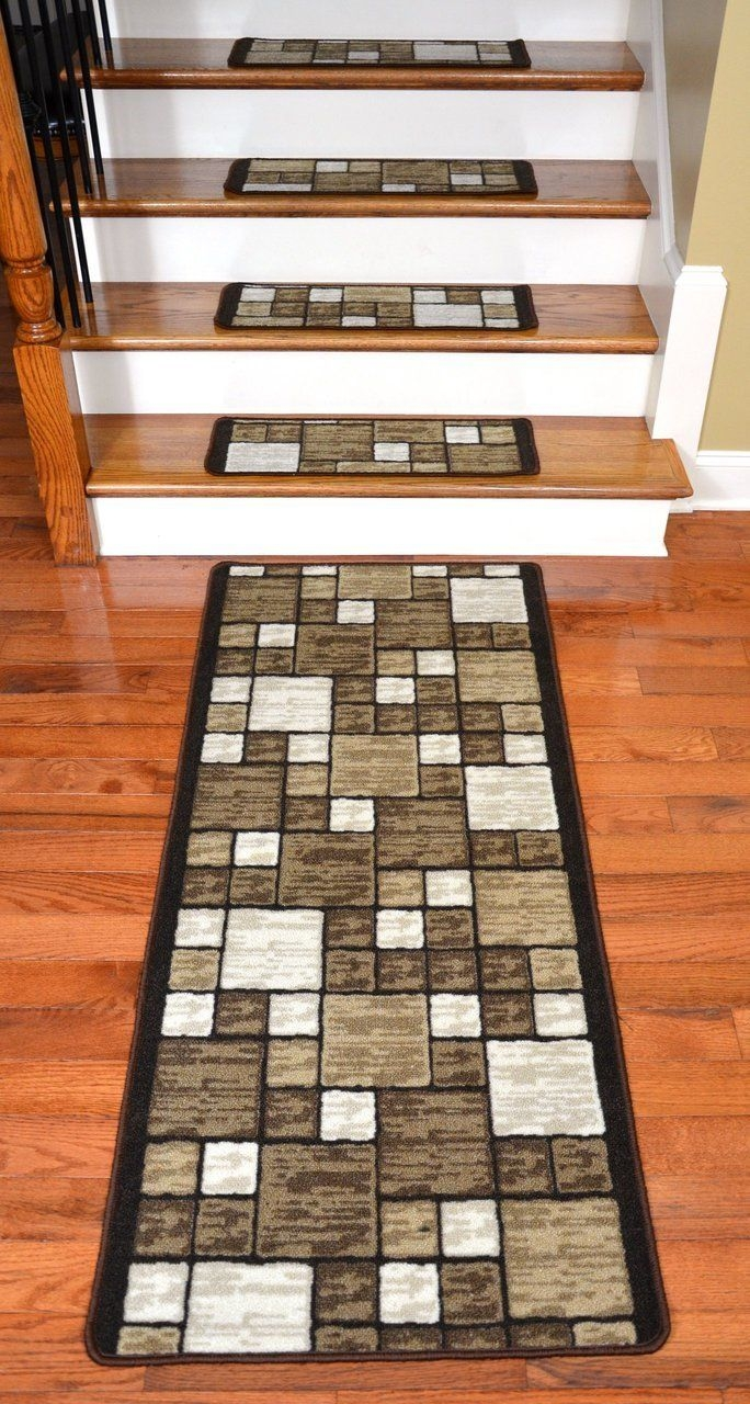 25 Best Stair Treads Ideas On Pinterest Wood Stair Treads Redo With Regard To Basket Weave Washable Indoor Stair Tread Rugs (View 3 of 20)
