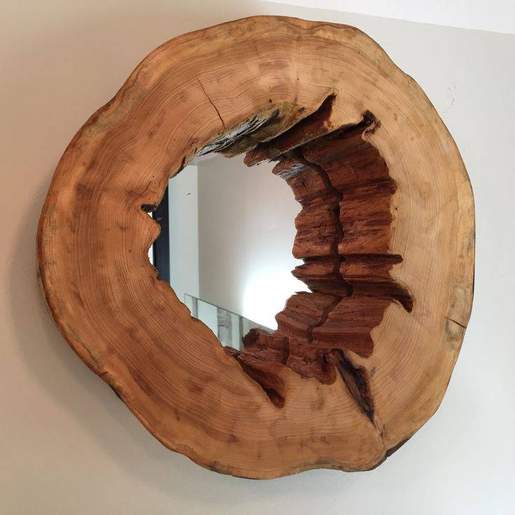 25+ Best Wood Mirror Ideas On Pinterest | Circular Mirror, Wood Pertaining To Rustic Oak Mirrors (#1 of 20)