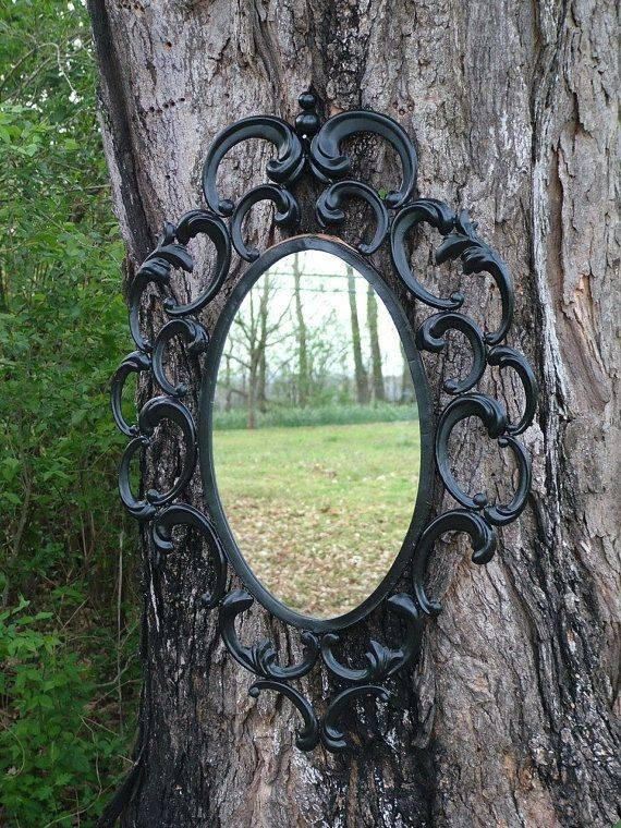251 Best Through The Looking Glass Images On Pinterest | Mirror Inside Large Black Ornate Mirrors (View 2 of 30)