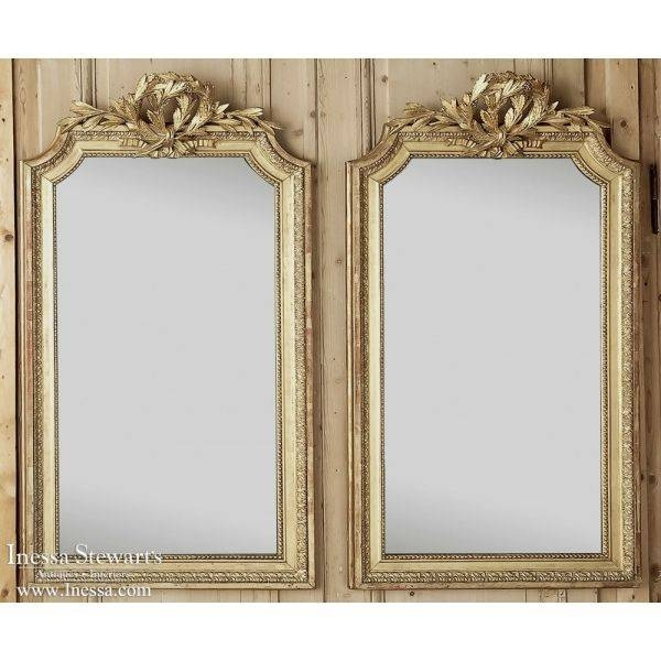 253 Best Antique Mirrors And Trumeaux Images On Pinterest Pertaining To Antique Gilded Mirrors (View 9 of 20)