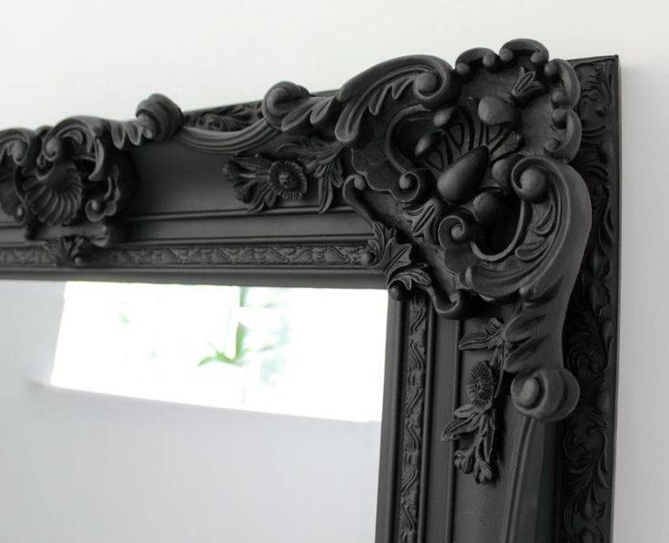 256 Best Mirrors Images On Pinterest | Mirror Mirror, Wall Mirrors Regarding Large Black Ornate Mirrors (View 3 of 30)