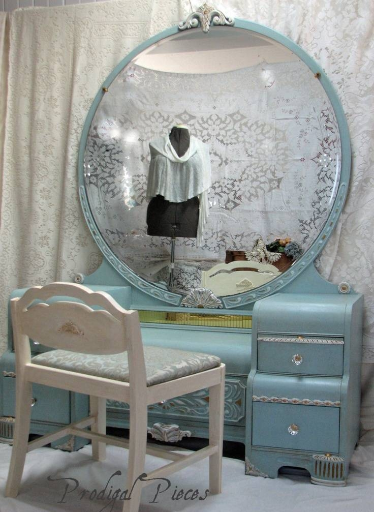 256 Best Vanities & Dressing Tables Images On Pinterest | Dressing Throughout Shabby Chic Round Mirrors (#4 of 20)