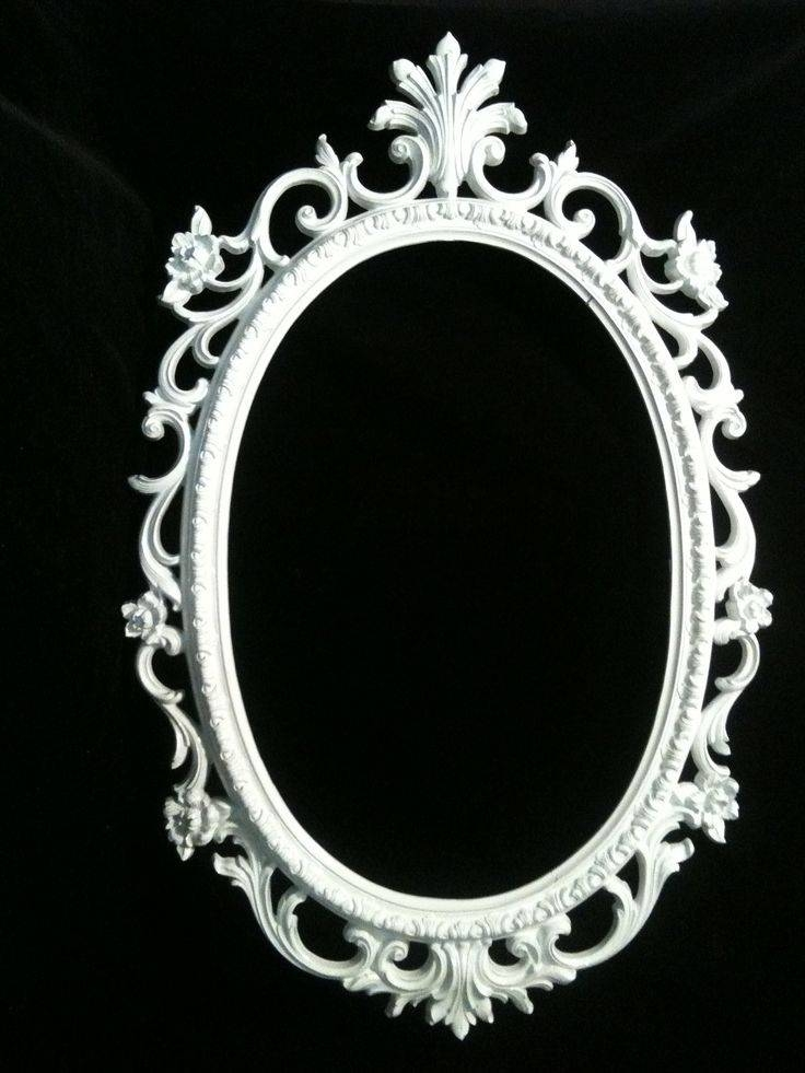 27 Best Frames Images On Pinterest | Vintage Frames, Oval Frame Regarding Oval White Mirrors (#2 of 30)
